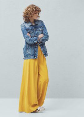 Pantalones palazzo de Mango, vía página web de Mango