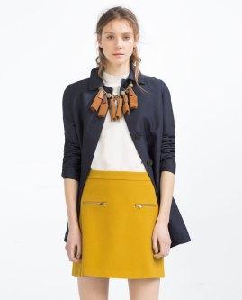 Falda de Zara, vía página web de Zara