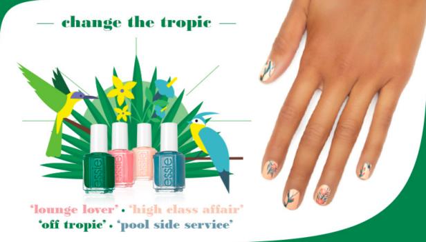 Change the tropic, imagen de la página web de Essie
