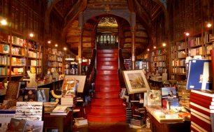 Librería Lello, vía www.lugaresdecine.com