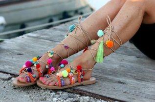 Sandalias de cuero hechas a medida de Dimitra's Workshop, imagen de la página de ETSY