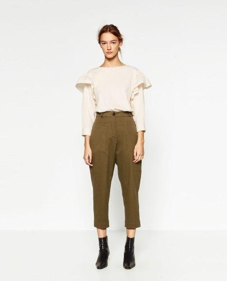 Pantalón #joinlife relax fit Khaki, vía página web de Zara